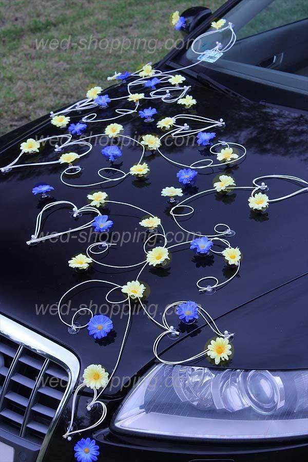 d coration voiture mariage bleu id es et d 39 inspiration sur le mariage. Black Bedroom Furniture Sets. Home Design Ideas