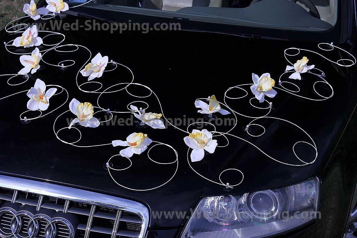 Decoration Voiture Pour Mariage Noire Et Blanc